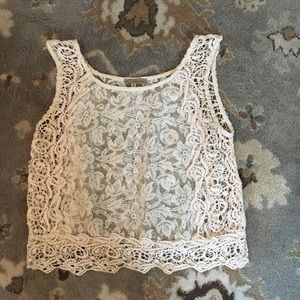 Urban Day Tops - Lace & Crochet Crop Top